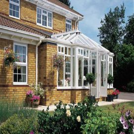 Bespoke conservatory with dwarf walls