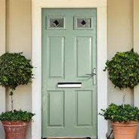 Energy efficient traditional composite front door