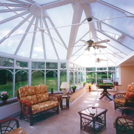 Large custom designed traditional conservatory