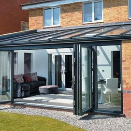 Modern Conservatory with bi-fold doors