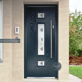 Contemporary composite door, custom made colours